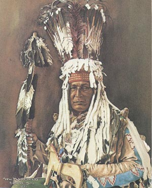 Mountain Chief (Ninastoko), last hereditary chief of the Blackfoot tribe