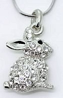 Austrian Crystal Rabbit Necklace