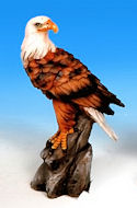 Bald Eagle Facing Left Miniature Figurine