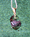 Banded Amethyst Faceted Point Necklace