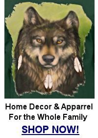 3 Feather Wolf T-Shirt