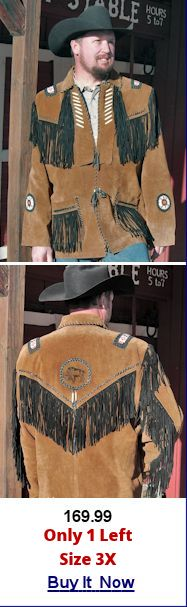 Buy fringed leather jacket
