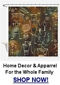Hopi petroglyph shower curtain