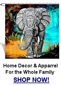 african elelphant shower curtain