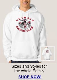 Shop for Tlingit Raven Clan hoodie and t-shirts for the whole family!