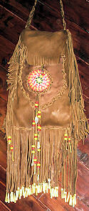 Beaded Double Compartment Buckskin Bag