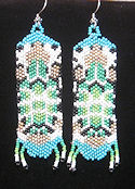 Beaded Turtle seed bead earrings
