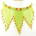 Lime Green Beaded  seed bead Necklace