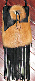 Buckskin Red Fox Concho Bag