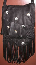 Deer Antler Buckskin Possible Bag with Long Fringe