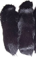 Black Fox Tail with Ball Chain Fastener