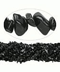 "36"" Continuous Strand Black Onyx Chip Beads"