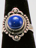 Blue Lapis Sterling Silver Ring #116