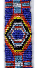 "Blue Cross with Rainbow Eyes 1"" x 25"" Bead Strip"