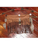 Beaded Bow with 2 Beaded Arrows & Long Fringed Buckskin Quiver
