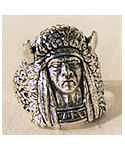 Buffalo Warrior Indian Head Ring