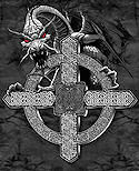 Celtic Cross Dragon Tshirt