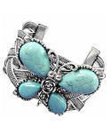 Celtic Turquoise Butterfly Cuff Bracelet