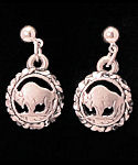 Diamond Cut Mini Buffalo Cut Out Dangle Earrings