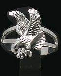 Diamond Cut Flying Eagle Ring