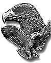 Diamond Cut Double Eagle Pin