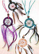 Leather Dream Catcher Necklace with Matching Cord