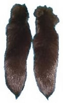 Cinnamon Fox Tail with Ball Chain Fastener