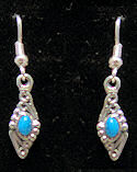 Navajo Inspired Diamond Turquoise Earrings
