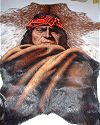 Geronimo Painted on Goat Hide