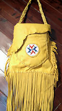 "12"" x 12"" Double Compartment Buckskin Purse"