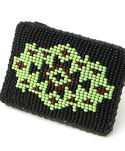 Green Seeing Eye Beaded Belt Buckle