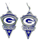 NFL Licensed Green Bay Packer Dangle Earrings