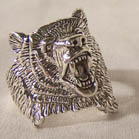 Bear Head Ring