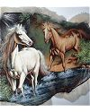 2 Horses Painted on Goat Hide