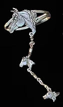 Diamond Cut Horse Slave Bracelet