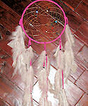 Hot Pink - Multicolor Beads Dreamcatcher
