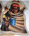 Apache with Cup Painted on Goat Hide