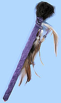 Rabbit Fur Lavender Suede Leather Talking Stick