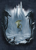 Lost Valley Dragon Fantasy T-Shirt by Meiklejohn Graphics