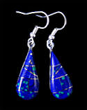 Malachite Azurite Teardrop Earrings