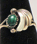 Malachite Sterling Silver Ring #121
