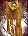 Red Fox Concho Fringed Buckskin Bag No 2