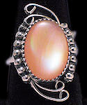 Mother of Pearl Sterling Silver Ring No 91