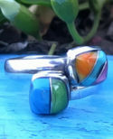 Rainbow Multistone Ring #106