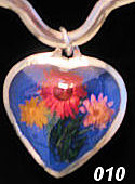 Nahua Reversible Flower Heart Pendant #010