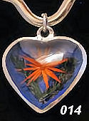 Nahua Reversible Flower Heart Pendant #014