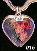 Nahua Reversible Flower Heart Pendant #015