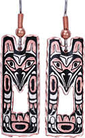 Eagle Totem Pole Diamond Cut Dangle Earrings