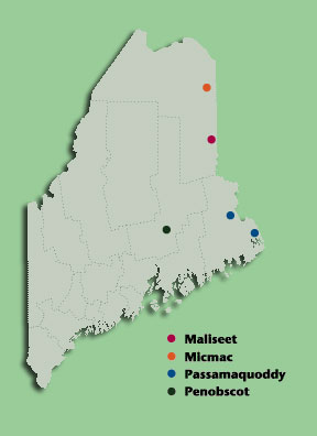 Maine tribes map