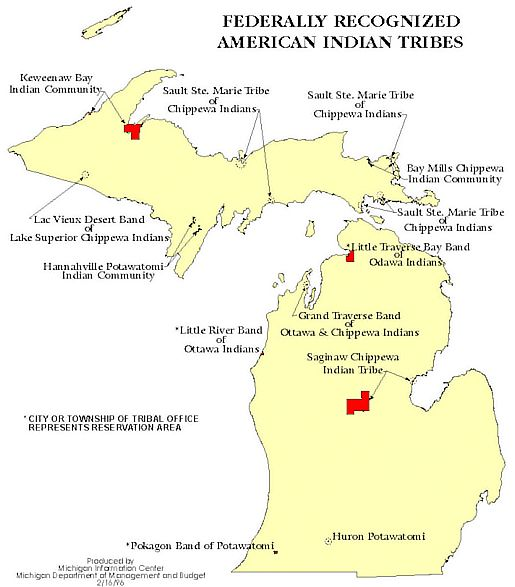Michigan Indian Reservations  Reservations By State  AAA